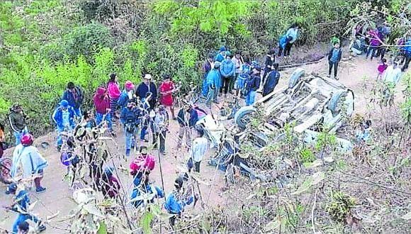 Piura: la unidad siniestrada se dirigía desde el caserío Tolingas hacia Huarmaca, en la provincia de Huancabamba. (Foto: PNP)