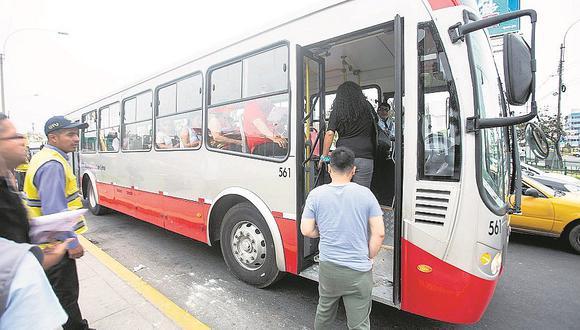 Anuncian aumento del precio de pasaje en corredor Javier Prado
