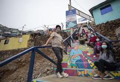 Pinta Lima: escaleras lucen coloridas para el bicentenario en Ate, Comas y San Juan de Lurigancho