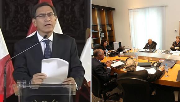 El Tribunal Constitucional difundió en vivo el debate que terminó con cuatro votos a favor y tres en contra de rechazar la demanda de Pedro Olaechea. (Foto: Difusión) | TV Perú