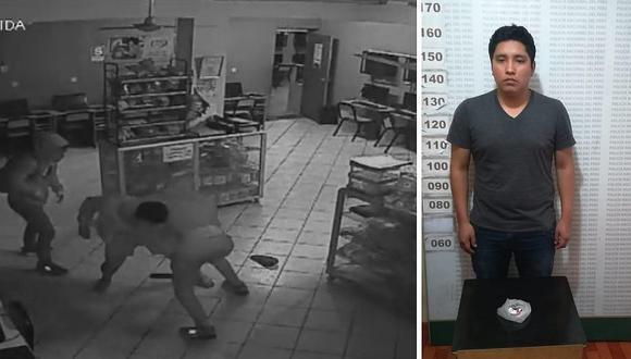 Cliente planeó asalto en cabina de internet en Santa Anita (FOTOS y VIDEO)