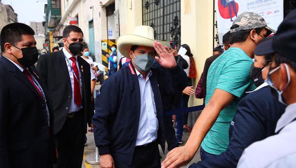 El presidente electo, Pedro Castillo, indicó que está conformando su equipo de trabajo. (Foto: Hugo Curotto / @photo.gec)