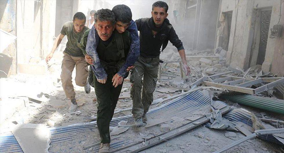 84 civiles murieron en ataques de rebeldes terroristas en Alepo