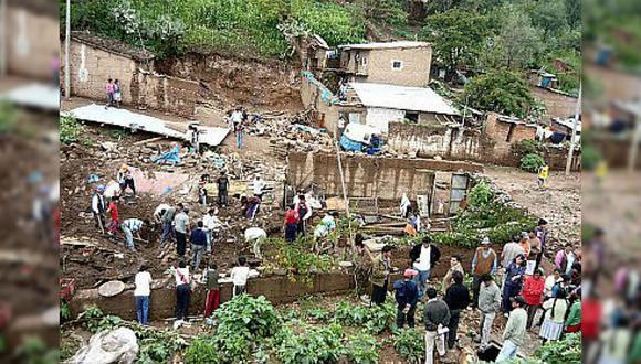 Vraem: huaico deja sin viviendas a decenas de personas en Calicanto