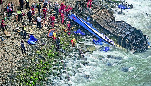Chofer de bus que cayó a abismo en Pasamayo habría excedido las horas de trabajo