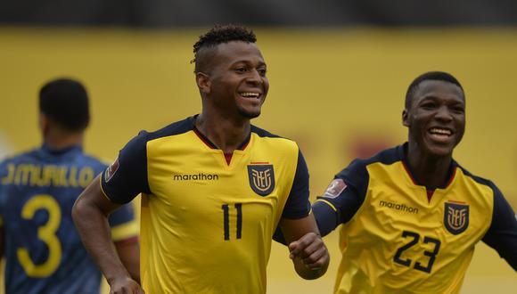Ecuador bailó a Colombia y llegó a 9 puntos en las Eliminatorias. (Foto: AFP)