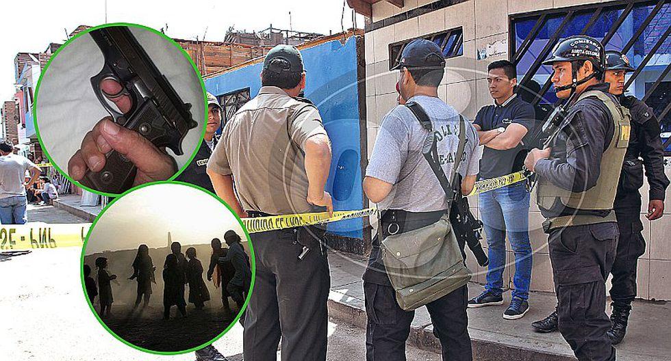 Tres sicarios asesinan a joven padre frente a niños en el Callao