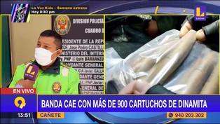 PNP captura a banda criminal con más de 900 cartuchos de dinamita