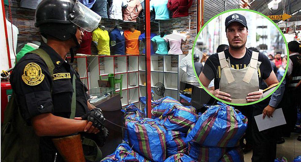 Incautan 400 sacos con ropa de contrabando en Gamarra (FOTOS Y VIDEO)