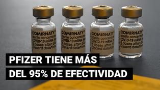 Nuevo estudio confirma la efectividad de Pfizer con más del 95% frente a la COVID-19
