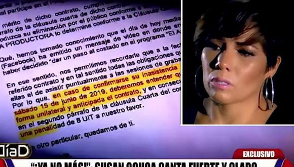 Susan Ochoa: Carta notarial que envió productor de Gisela Valcárcel exigía pago de S/. 33 600 │VIDEO