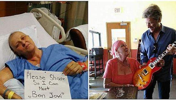 Facebook: Bon Jovi y su conmovedor gesto con fan que lucha contra el cáncer [VIDEO]