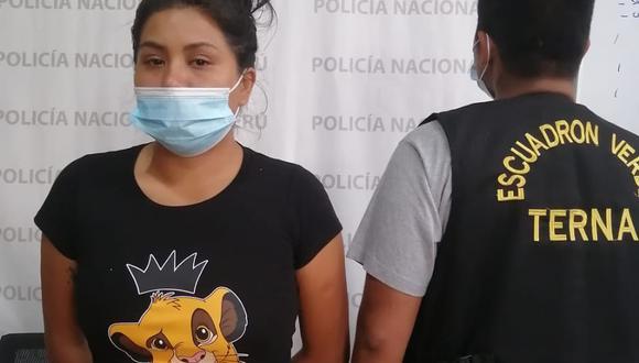 La detenida Tania Silva Robles Lindo (24).