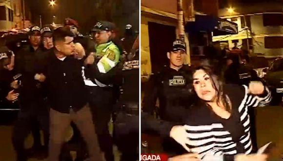 Ebrios se resistieron a prueba de alcoholemia y hasta golpearon a policías│VIDEO