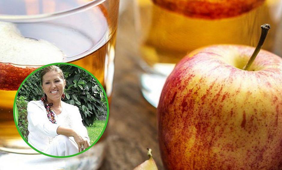 Cuatro males que puedes curar consumiendo vinagre de manzana según Jeanette Enmanuel