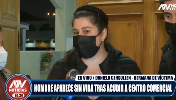 Daniela Gensollen, hermana de Alex Vera Tudela. (Foto: captura | ATV)