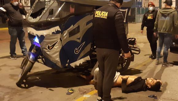 Uno de los sospechosos herido intentó escapar pero fue capturado. (PNP)