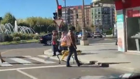 El hecho tuvo lugar en León, España. (Foto: Twitter)