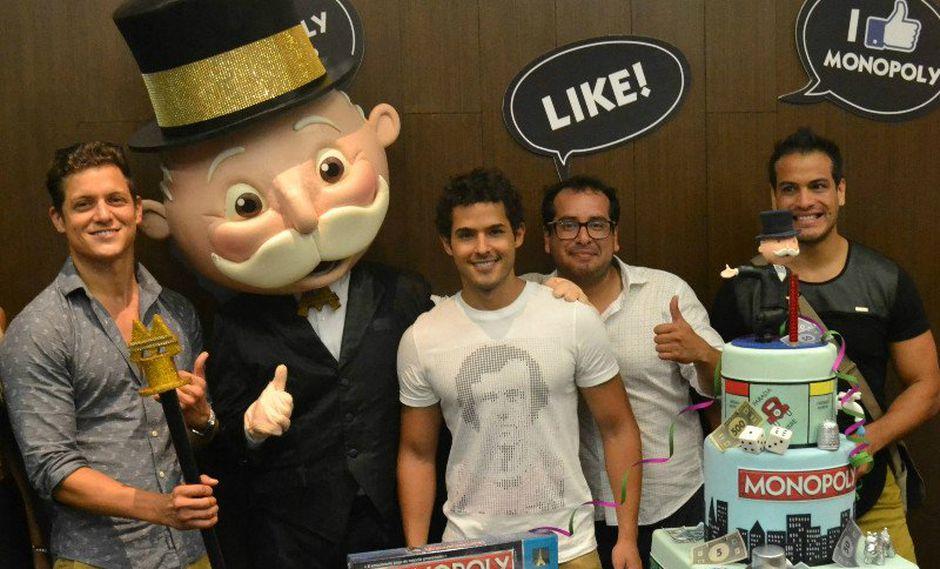 Gino Pesaressi presente en el cumpleaños de Mr. Monopoly
