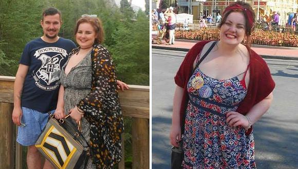 Novia sorprende con radical cambio: con 120 kilos, bajó de peso y luce regia