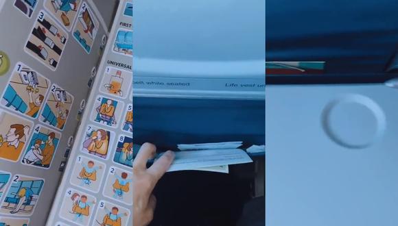 Un video viral te muestra las partes sobre las que definitivamente no querrás posar tus manos la próxima vez que viajes en un avión. | Crédito: @katkamalani / TikTok.