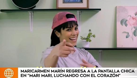"""Maricarmen Marín regresa a la pantalla chica con la serie """"Mari Mari, luchando con el corazón"""". (Foto: Captura de video)"""
