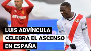 Así celebró Luis Advíncula el ascenso de Rayo Vallecano