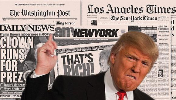"Donald Trump carga de nuevo contra medios de comunicación ""mentirosos"""