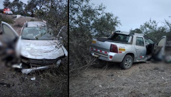 Lambayeque: una persona fallece tras despiste de camioneta en Olmos