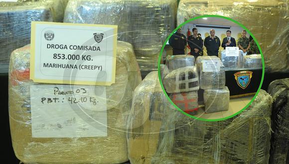 Transportaban 853 kilos de marihuana en camión de plátanos y policía los captura (FOTOS)
