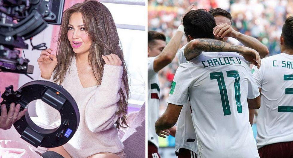 Thalía celebra triunfo de México contra Corea de Sur a su manera (FOTO)