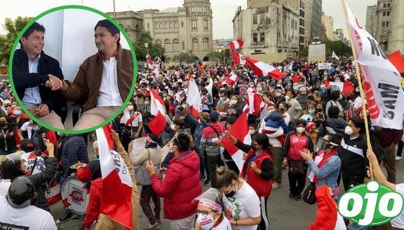 Marcha contra Pedro Castillo. Foto: ((Manuel Ríos/The Epoch Times en Español) Fuente: The Epoch Times en español | Twitter).