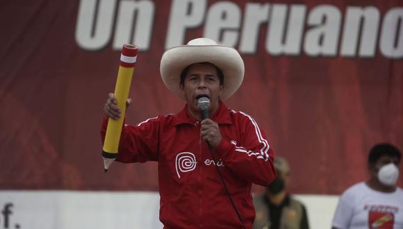 Pedro Castillo ha señalado que será respetuoso de la Constitución, pero durante su campaña también se ha referido a un eventual cierre del Congreso. (Foto: César Campos / GEC)