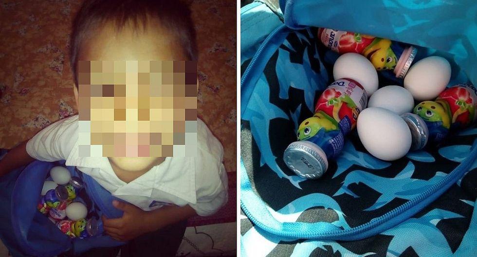 Niño escondía comida en su mochila para un compañero que jamás llevaba lonchera