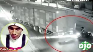 """Nieto de """"Melcochita"""" salió volando de motocicleta y fue arrollado por camión, según cámaras de vigilancia"""