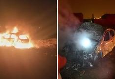 Queman vehículo utilizado en triple asesinato en Huaral | VIDEO