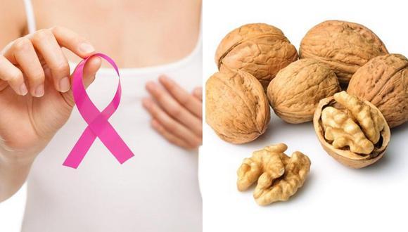 Consumo de nueces ayudan a combatir el cáncer de mama