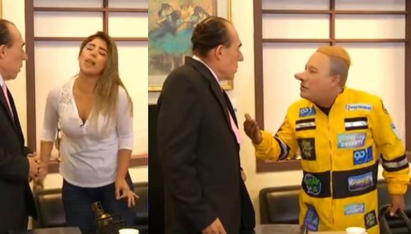 Korina Rivadeneira y Mario Hart: los parodian visitando al encargado de Migraciones (VIDEO)
