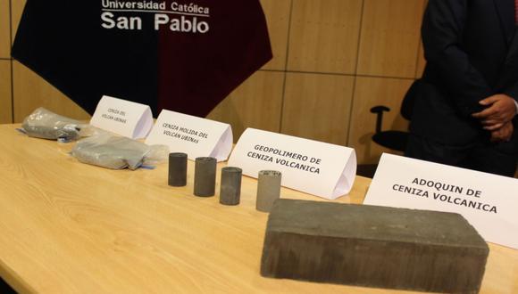 Ingemmet: Fabrican ladrillos (adoquines) con ceniza volcánica del Ubinas (Moquegua), Sabancaya y Misti (Arequipa) para ser empleados en la construcción. (Foto Ingemmet)