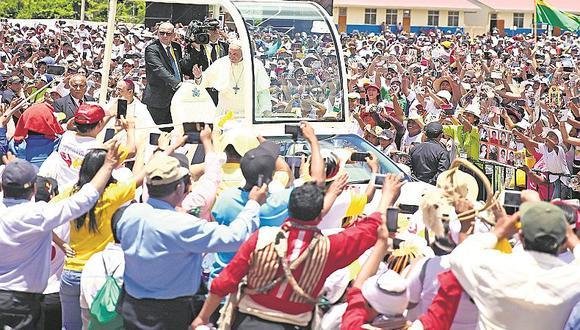 Visita del Papa Francisco deja $90 millones de dólares de ingresos al Perú