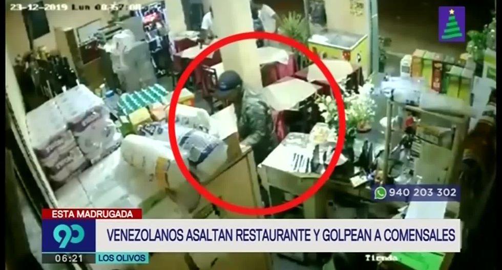 Según la dueña del local, dos de los hampones serían de nacionalidad venezolana. (Foto captura: Latina)