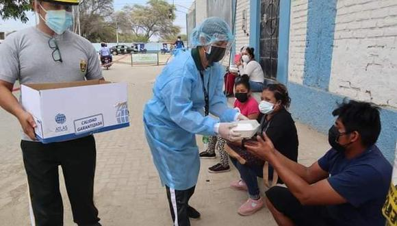Piura: efectivos policiales mostraron empatía y solidaridad conciudadanos que son afectados por la pandemia. (Foto: PNP)