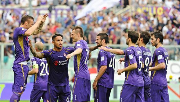 Fiorentina con el peruano Juan Manuel Vargas de titular vence 3-1 al Cesena