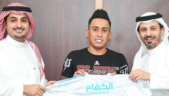 Cueva renovó su contrato con Al Fateh hasta la temporada 2023. (Foto: Al Fateh)