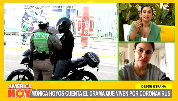 Desde España, Mónica Hoyos revela la difícil situación que se vive en ese país debido al avance del coronavirus. (Foto: Captura de video)