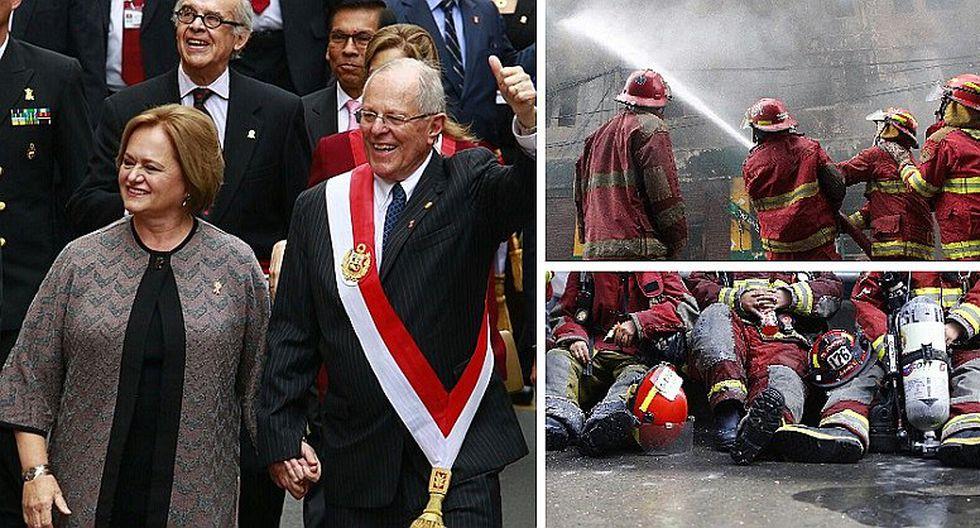 Fiestas Patrias: PPK hace promesa a bomberos del Perú en mensaje a la Nación