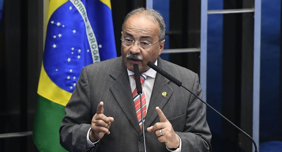 Esta imagen muestra al senador Chico Rodrigues hablando en el Plenario del Senado en Brasilia, el 11 de febrero de 2020. (AFP / BRAZILIAN SENATE / MARCOS OLIVEIRA).