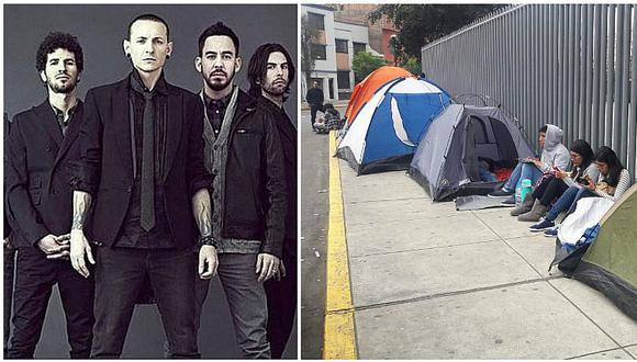 Linkin Park se presenta en 10 días y fanáticos ya acampan en el Estadio Nacional (VIDEO)