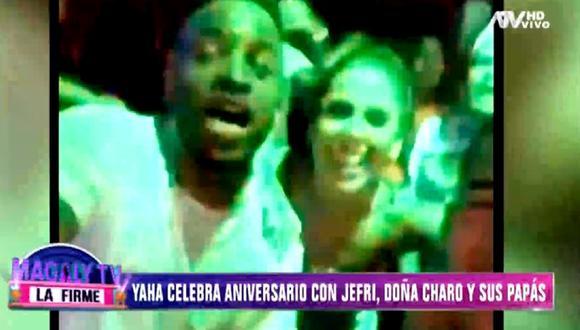 """Yahaira Plasencia y Jefferson Farfán son captados por las cámaras de """"Magaly TV: La firme"""". (Foto: Captura ATV)"""
