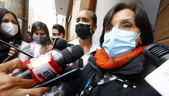 Dina Boluarte agradeció a quienes han confiado en la propuesta de gobierno presentada por Perú Libre. (Foto: Eduardo Cavero / @photo.gec)